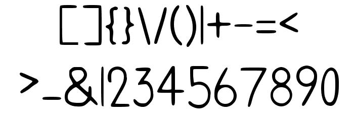 Handwriting Regular Caratteri MAIUSCOLE