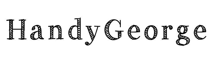 HandyGeorge  Free Fonts Download