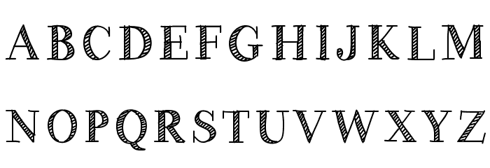 HandyGeorge Font UPPERCASE