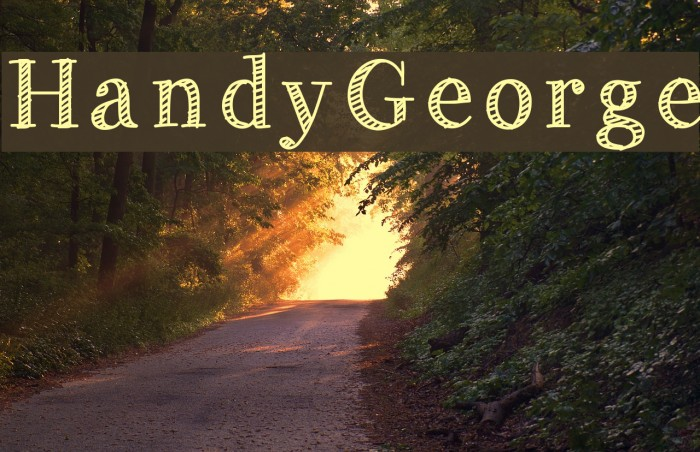 HandyGeorge Font examples