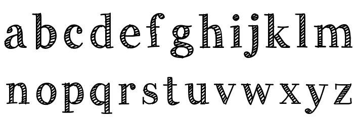 HandyGeorge Font LOWERCASE