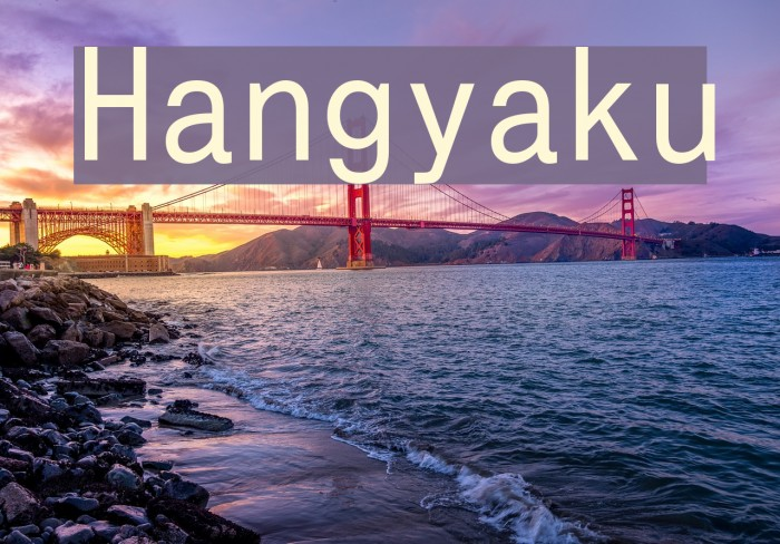 Hangyaku फ़ॉन्ट examples