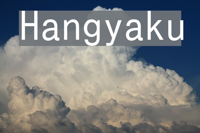 Hangyaku Font examples