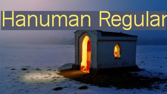Hanuman Regular फ़ॉन्ट examples