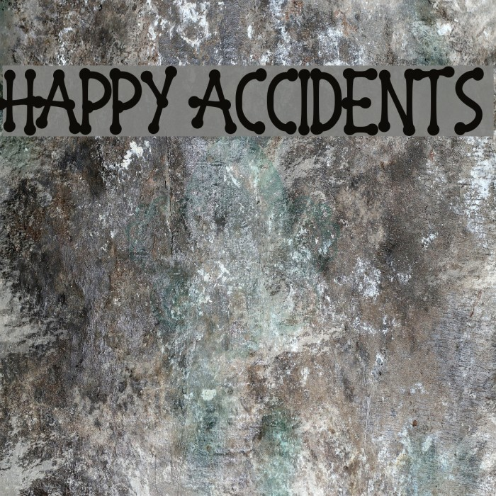 Happy Accidents フォント examples