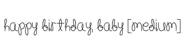Happy Birthday, Baby [Medium]  Fuentes Gratis Descargar