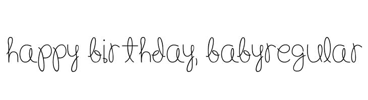 Happy Birthday, BabyRegular  Fuentes Gratis Descargar