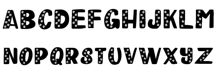 Happy Clover Leaf Display Font Litere mari