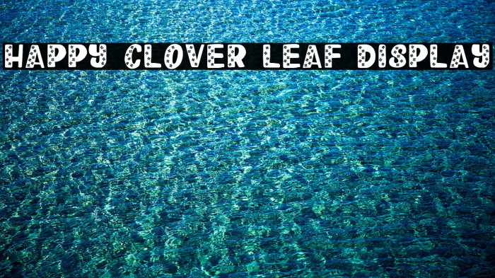 Happy Clover Leaf Display Font examples