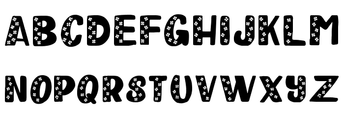Happy Clover Leaf Display Font Litere mici