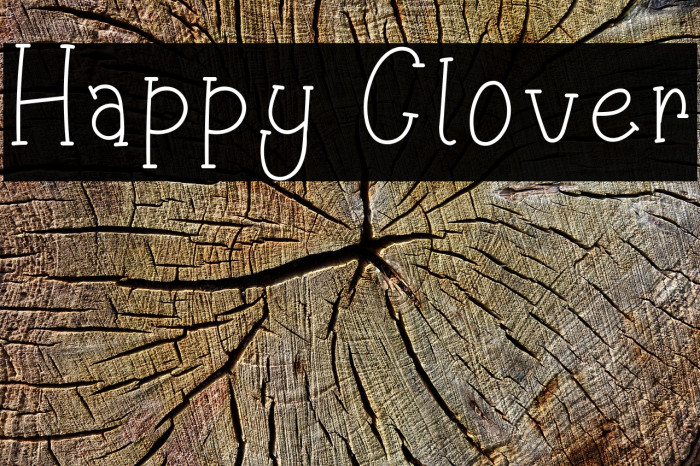 Happy Clover Font examples