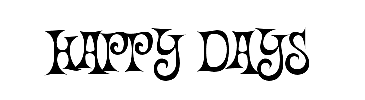 Happy Days  Free Fonts Download