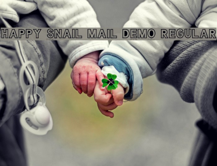 Happy Snail Mail DEMO Regular फ़ॉन्ट examples