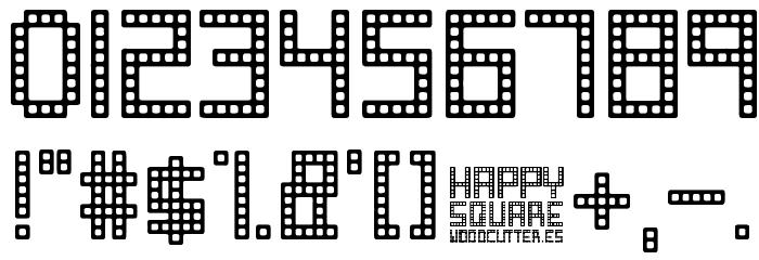 Happy Square フォント その他の文字