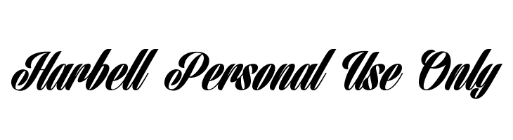 Harbell Personal Use Only  Free Fonts Download