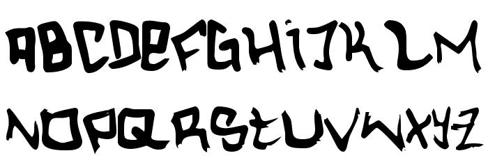 Hardcore Font UPPERCASE