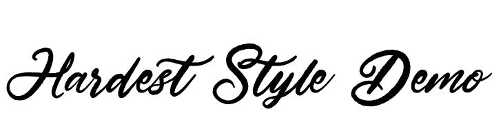 Hardest Style Demo Schriftart