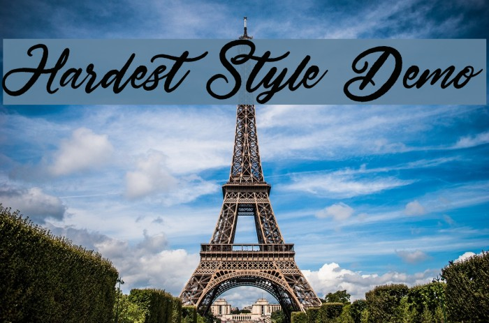 Hardest Style Demo Шрифта examples