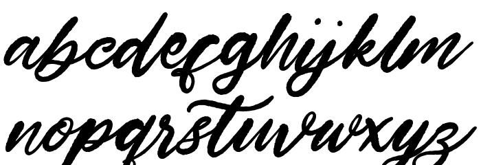 Hardest Style Demo Schriftart Kleinbuchstaben