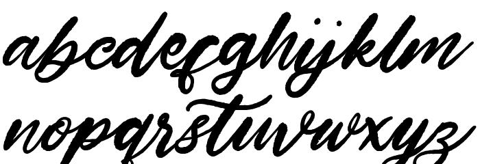 HardestStyleDemo Schriftart Kleinbuchstaben