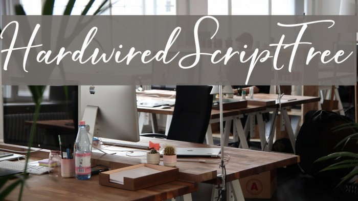 HardwiredScriptFree Font examples
