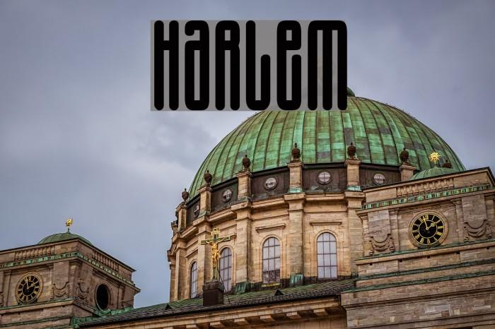 Harlem Font examples