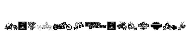 Harley Davidson  Fuentes Gratis Descargar