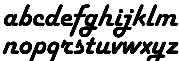 Harlow Solid Italic Font LOWERCASE