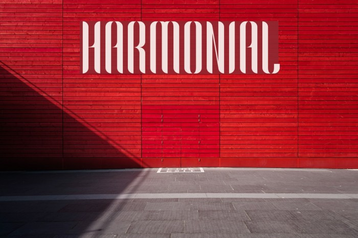 Harmonial Font examples