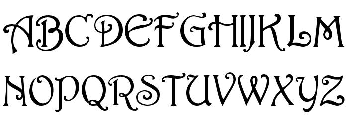 Harrington [Plain]:001.001 Font UPPERCASE