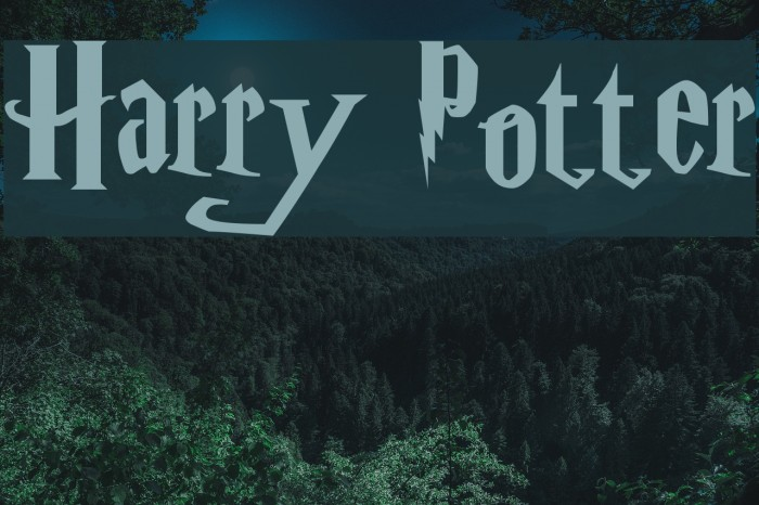 how to write harry potter font