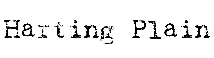 Harting Plain  Free Fonts Download