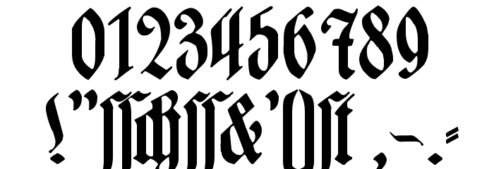 Hartwig-Schrift Font OTHER CHARS