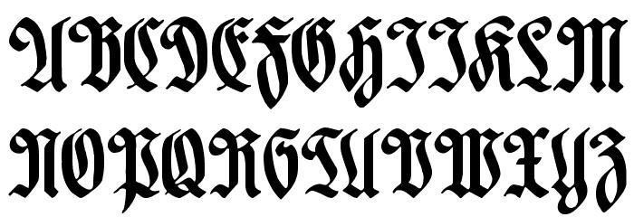 Hartwig-Schrift Font UPPERCASE