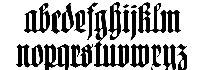 Hartwig-Schrift Font LOWERCASE
