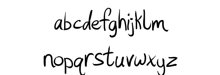 Hashtag Font LOWERCASE