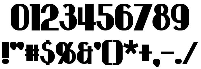 Hastings Bold Шрифта ДРУГИЕ символов