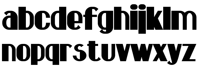 Hastings Bold Font LOWERCASE