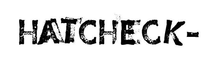 HatCheck- Font