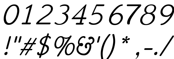 Hattha Italic Font Alte caractere