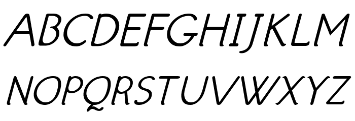 Hattha Italic Font Litere mari
