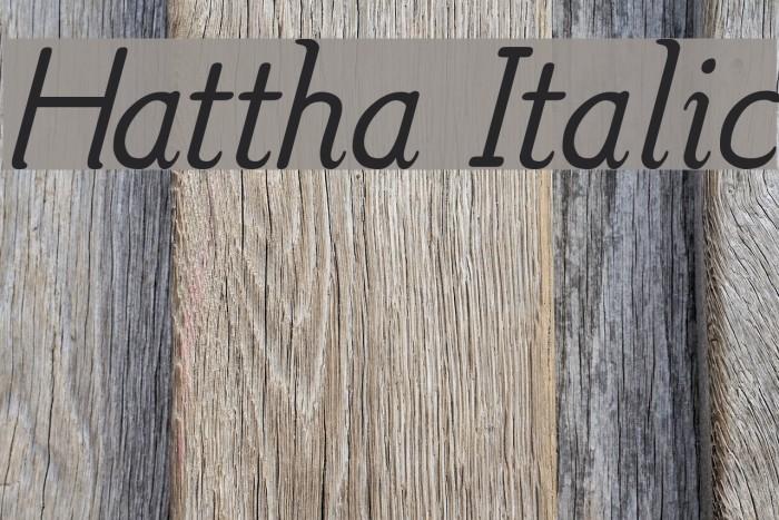Hattha Italic Fonte examples
