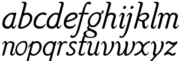 Hattha Italic Fonte MINÚSCULAS