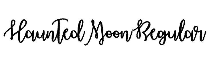Haunted Moon Regular Font - free fonts download