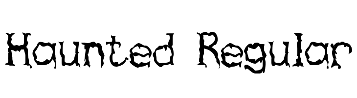 Haunted Regular  Free Fonts Download