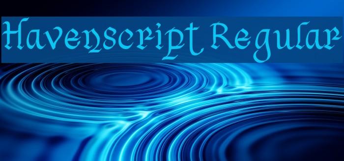 Havenscript Regular Fuentes examples