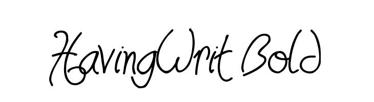 HavingWrit Bold  Free Fonts Download