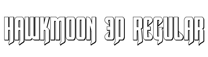 Hawkmoon 3D Regular  フリーフォントのダウンロード