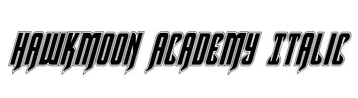 Hawkmoon Academy Italic  フリーフォントのダウンロード