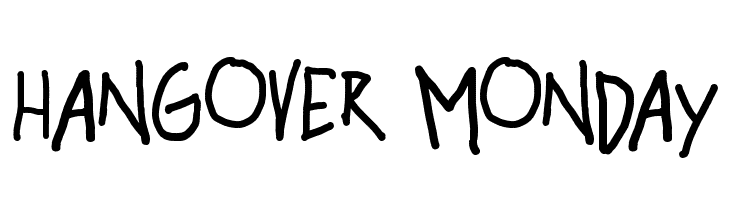 hangover monday  Free Fonts Download